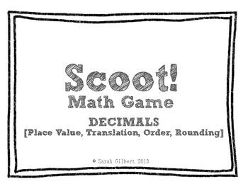 Scoot! [Decimals - Place Value, Translation, Order, Rounding]