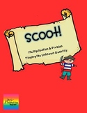 Scoot:  Determine Unknown in Multiplication & Division {task cards or game}