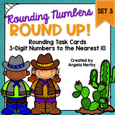 Task Cards: Rounding 3-Digit Numbers to the Nearest 10 {Set 3}