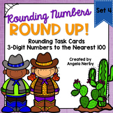 Task Cards: Rounding 3-Digit Numbers to the Nearest 100 {Set 4}