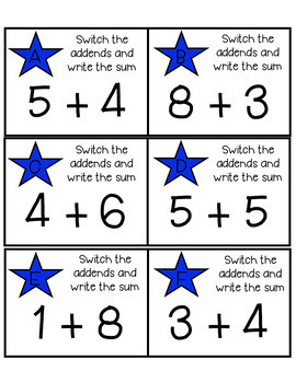Fact Fluency Task Cards: Addition