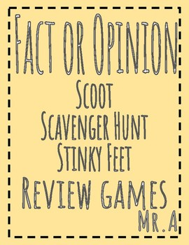 3 Review Games: Fact or Opinion