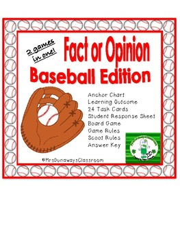 Scoot: Fact or Opinion (Baseball Edition)