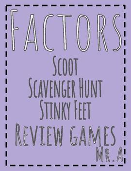 3 Review Games: Factors