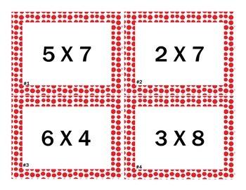 Scoot Multiplication Task Cards