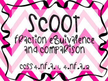 Scoot - Fraction Equivalence and Comparison (Common Core Aligned)