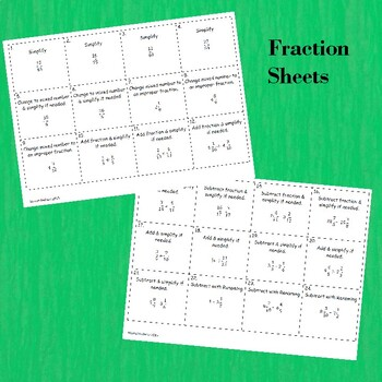 Scoot Fractions Game for Review
