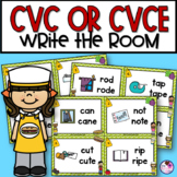 Long and Short Vowels | CVCe and CVC | Write the Room Activity