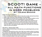 Scoot! Game - Mixed Word Problems (x, -, +, /)