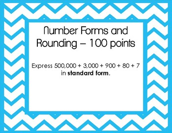 Scoot Game Task Cards - 4th Grade NBT and Place Value - TEST PREP