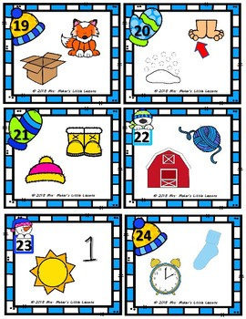Scoot Game/Task Cards: Identifying Rhymes (Winter/January Theme)