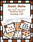 Scoot Game/Task Cards: One to One Correspondence/Tally Counting (Thanksgiving)