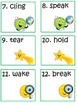 Scoot Game Task Cards Practice Advanced Irregular Verbs for Common Core or ESL