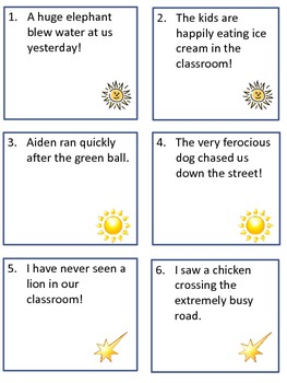 Scoot Game Task Cards for Practice with Identifying Adverbs for Common Core