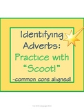Scoot Game Task Cards for Practice with Identifying Adverb