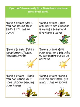 Scoot Game Task Cards for Practice with Plural Nouns for Common Core