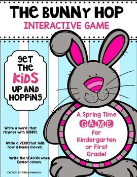 Spring SCOOT Game {The Bunny Hop} Kindergarten & First Gra