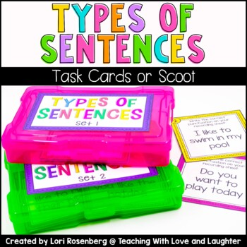 Types of Sentences Scoot or Task Cards