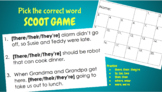 Scoot Game for commonly confused words