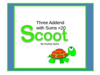 Scoot! Game with 3 Addends and Sums of less than 20