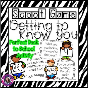 Scoot! Getting to Know You {Back to School}
