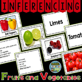 Scoot Inferencing Cards with Fruits and Vegetables