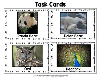 Scoot Inferencing Cards with Zoo Animals