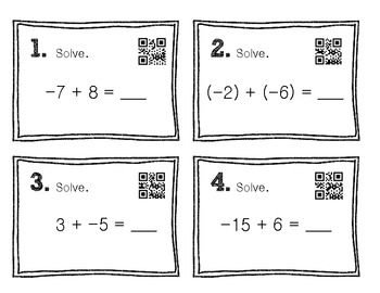 Scoot! [Integer Operation Review] With QR Codes