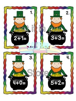 St. Patrick's Day Math Scoot for Addition to 10