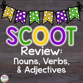 Mardi Gras Nouns, Verbs, and Adjectives Scoot Game