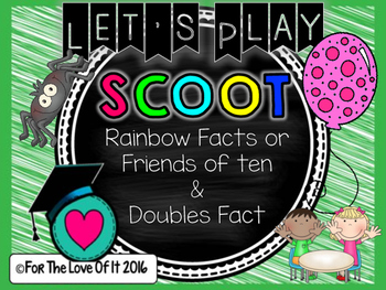 Scoot Math Game – Doubles facts and Rainbow facts (Friends of ten)