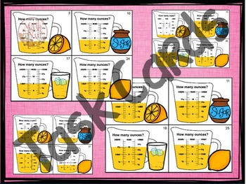 "Fraction Measurement (Capacity Practice) ""Measuring Ounces and Cups"""