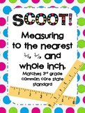Scoot: Measuring to the nearest quarter, half, or whole inch (Matches CCSS)