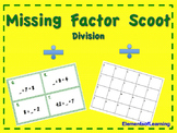 Scoot/Task Cards- Missing Factor Division