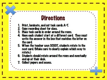 Scoot/Task Cards- Missing Factor Mixed (Multiplication and Division)