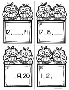 Missing Number Task Cards or Scoot Game