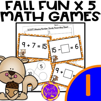Scoot! Missing Numbers and True and False Equations(1.OA.D