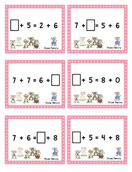 Scoot - Mouse Scoot & more... Balanced Addition Equations