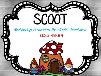 Scoot - Multiplying Fractions by Whole Numbers (Common Core Aligned)