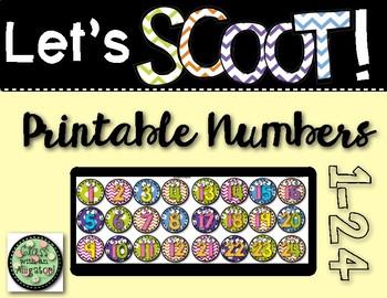 Scoot Numbers FREEBIE