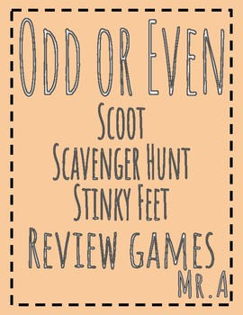 3 Review Games: Odd or Even