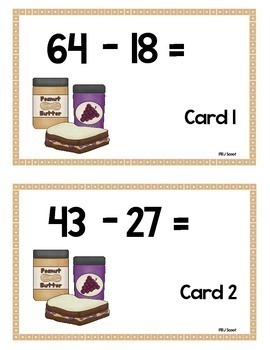 Scoot - PBJ Scoot & more...  Subtraction w/Repgrouping