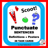 PUNCTUATION | PRACTICE | Task  Cards | SCOOT Game | BB Posters | Grade 3-4 Unit