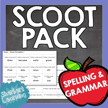 Scoot Pack - Spelling and Grammar, nouns, verbs, adjective