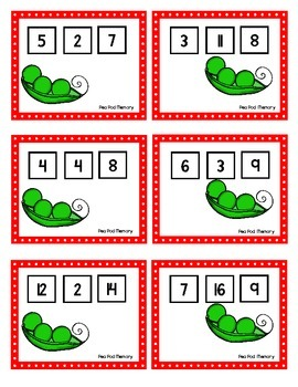 Scoot - Pea Pod Scoot & more... Fact Families