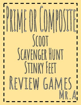 3 Review Games: Prime or Composite