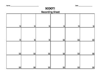 Scoot Recording Sheet