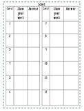 Scoot Recording Sheet - Math