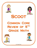Scoot Review of Fifth Grade Math