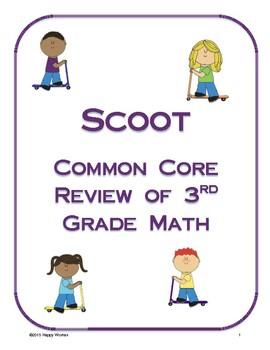 Scoot Review of Third Grade Math